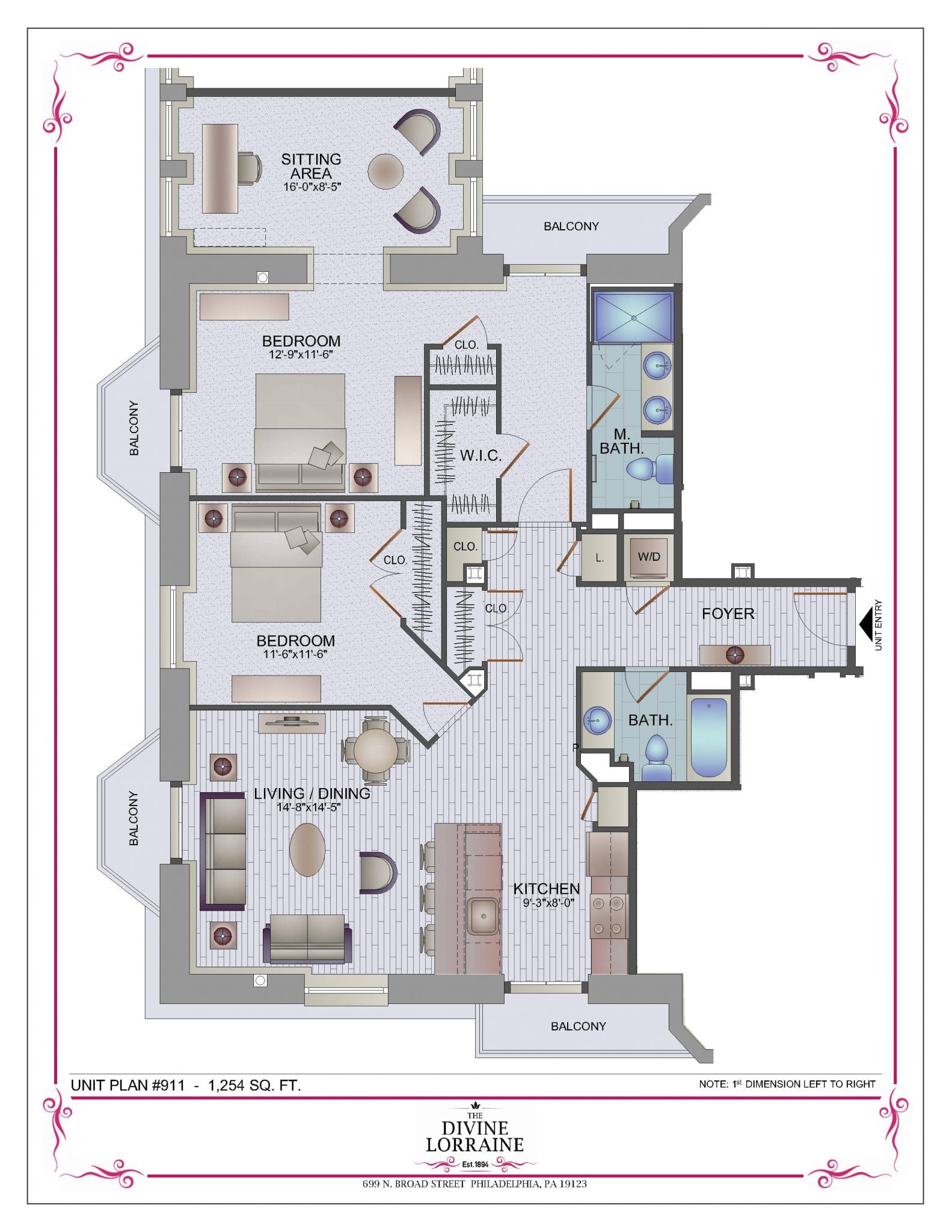 floor plans the divine lorraine hotel two bedrooms more floor plans available