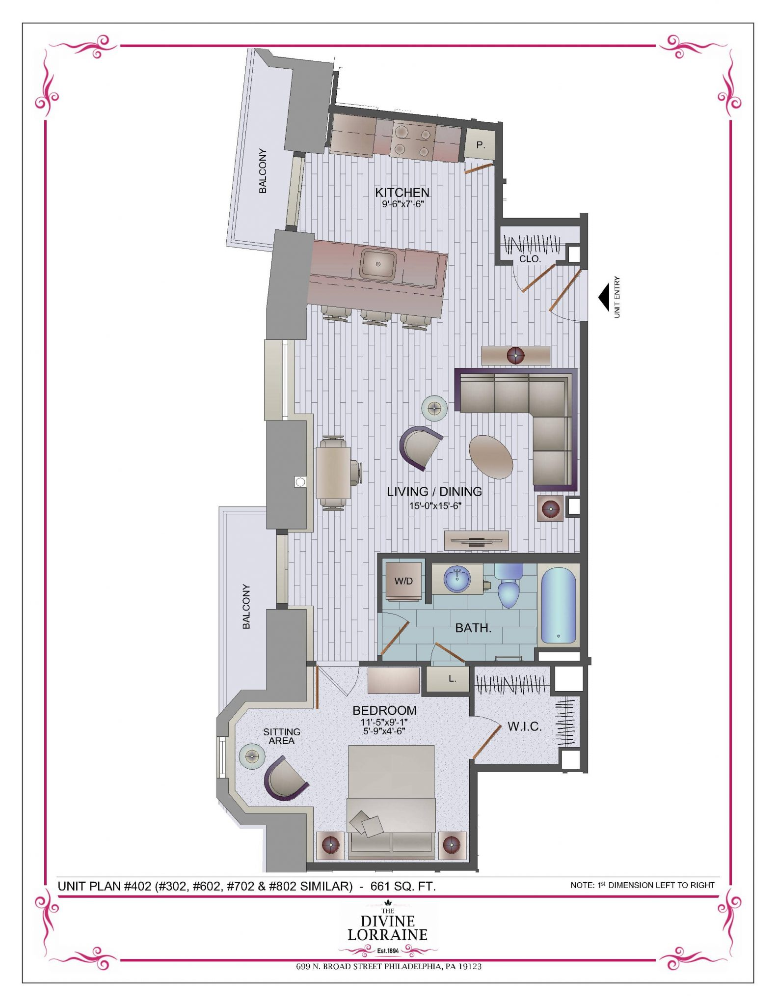 floor plans the divine lorraine hotel button text